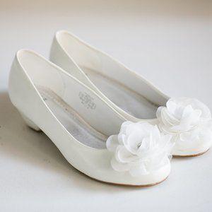 Stuart Weitzman Kitten Wedge Heel White Shoes